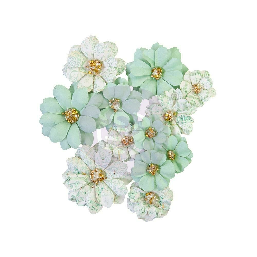 PRIMA FLOWERS® PRETTY MOSAIC COLLECTION - JADE - 12PCS / 1-2""