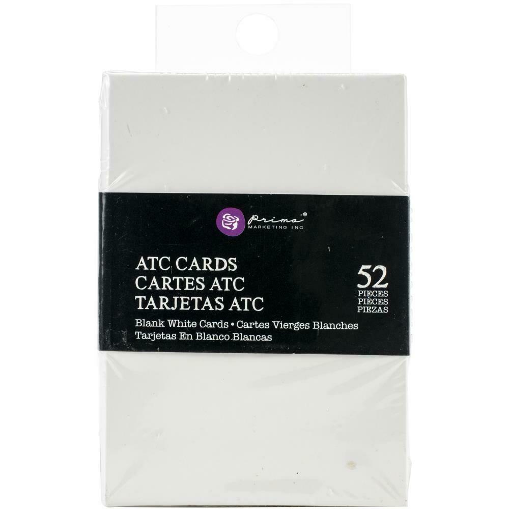 "Prima Marketing Altered ATC Card Set - White - 2.25""X3.5"""
