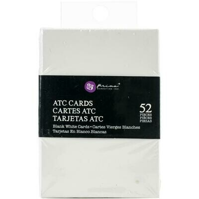 Prima Marketing Altered ATC Card Set - White - 2.25