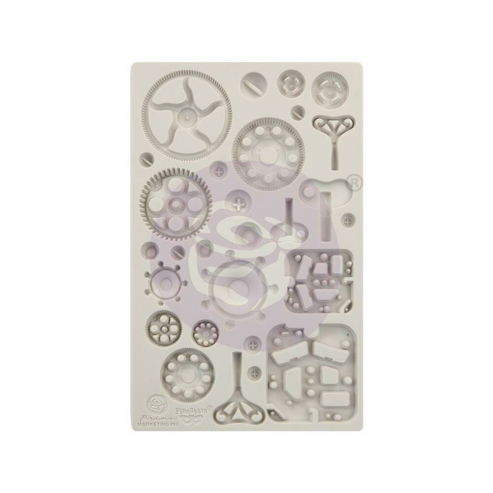 """Finnabair Decor Moulds- Mechanica -  5""""X8"""""""