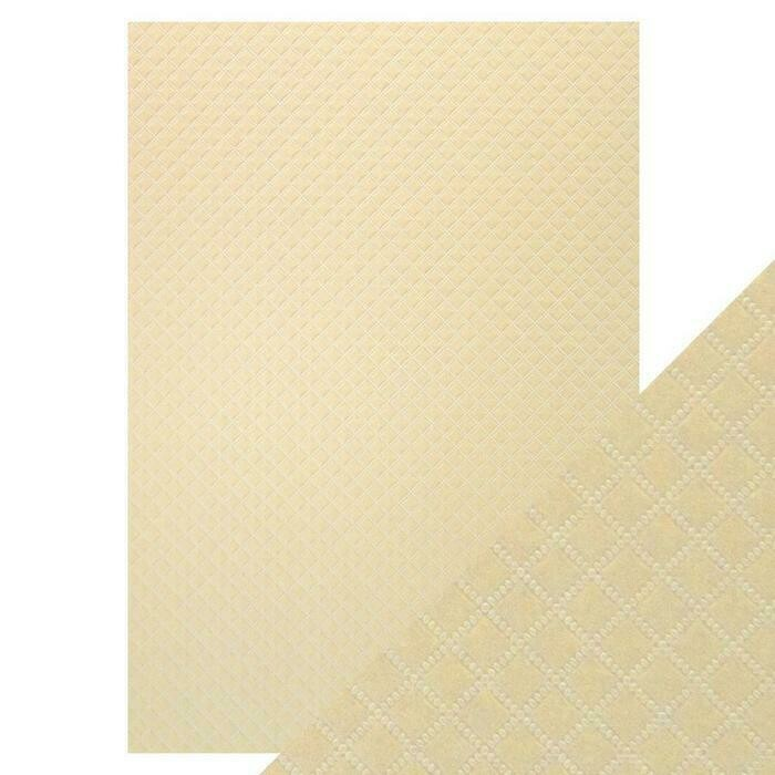 Craft Perfect - Luxury Embossed - Champagne Harlequin - A4 (5/PK)