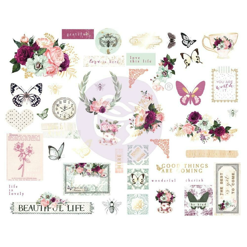 Prima Marketing Pretty Mosaic Chipboard Stickers 45/Pkg