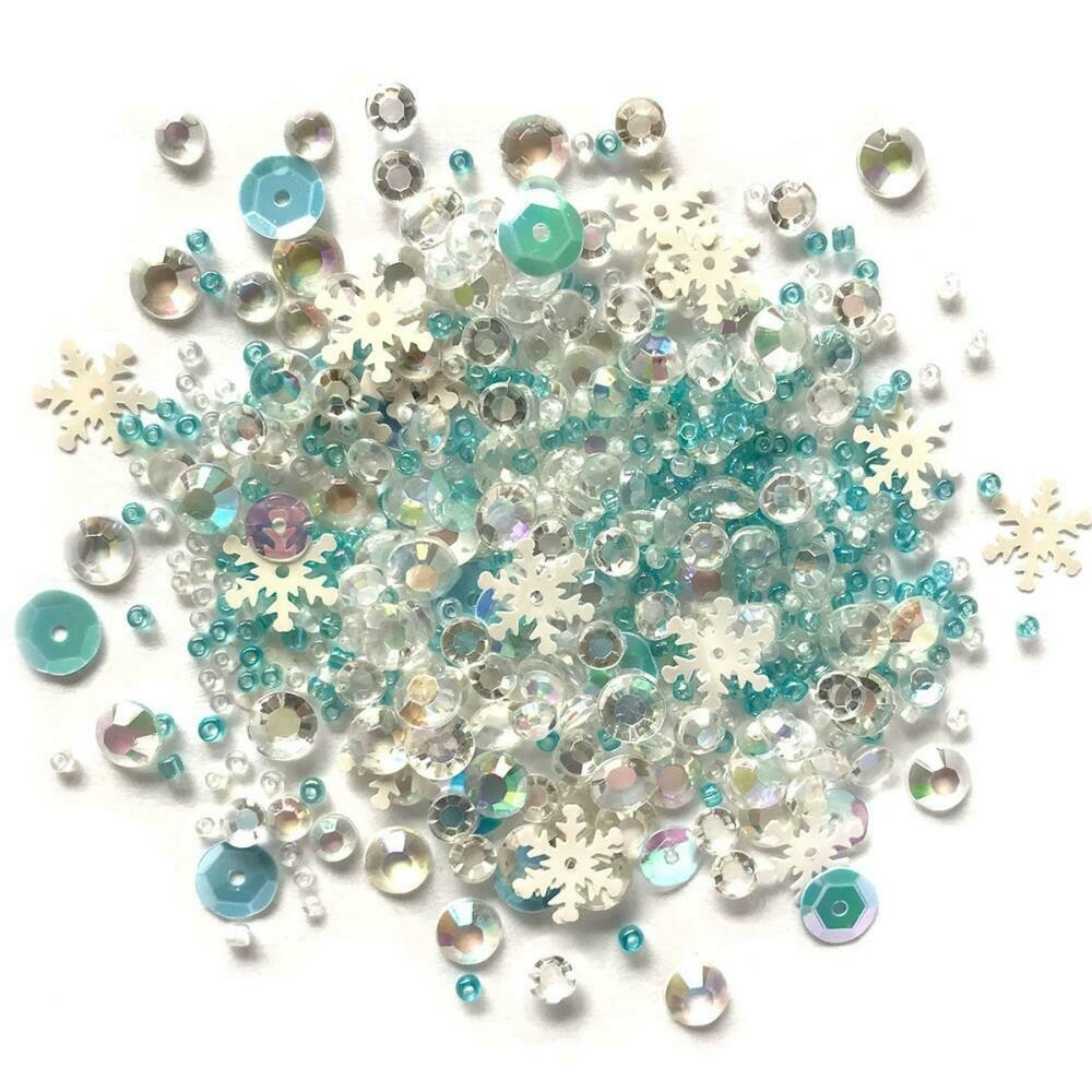 Sparkletz Embellishment Pack 10g  Snow Crystals