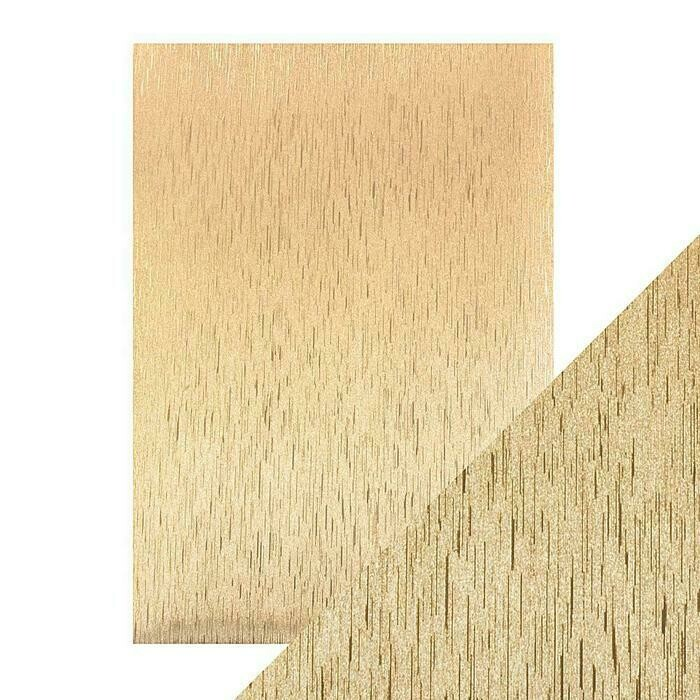 Craft Perfect - Luxury Embossed Card - Golden Satin - A4 (5/PK)