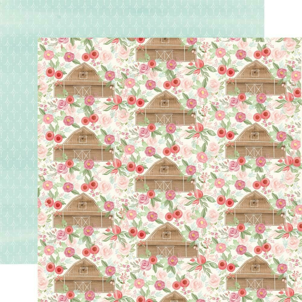 "Farmhouse Market Double-Sided Cardstock 12""X12"" - Barn Floral"