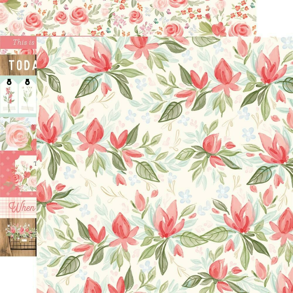 """Farmhouse Market Double-Sided Cardstock 12""""X12""""  Timeless Floral"""