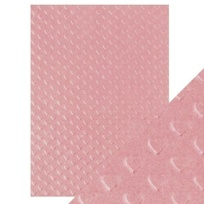 Craft Perfect - Hand Crafted Cotton Paper - Blush Heart - A4(5/PK)