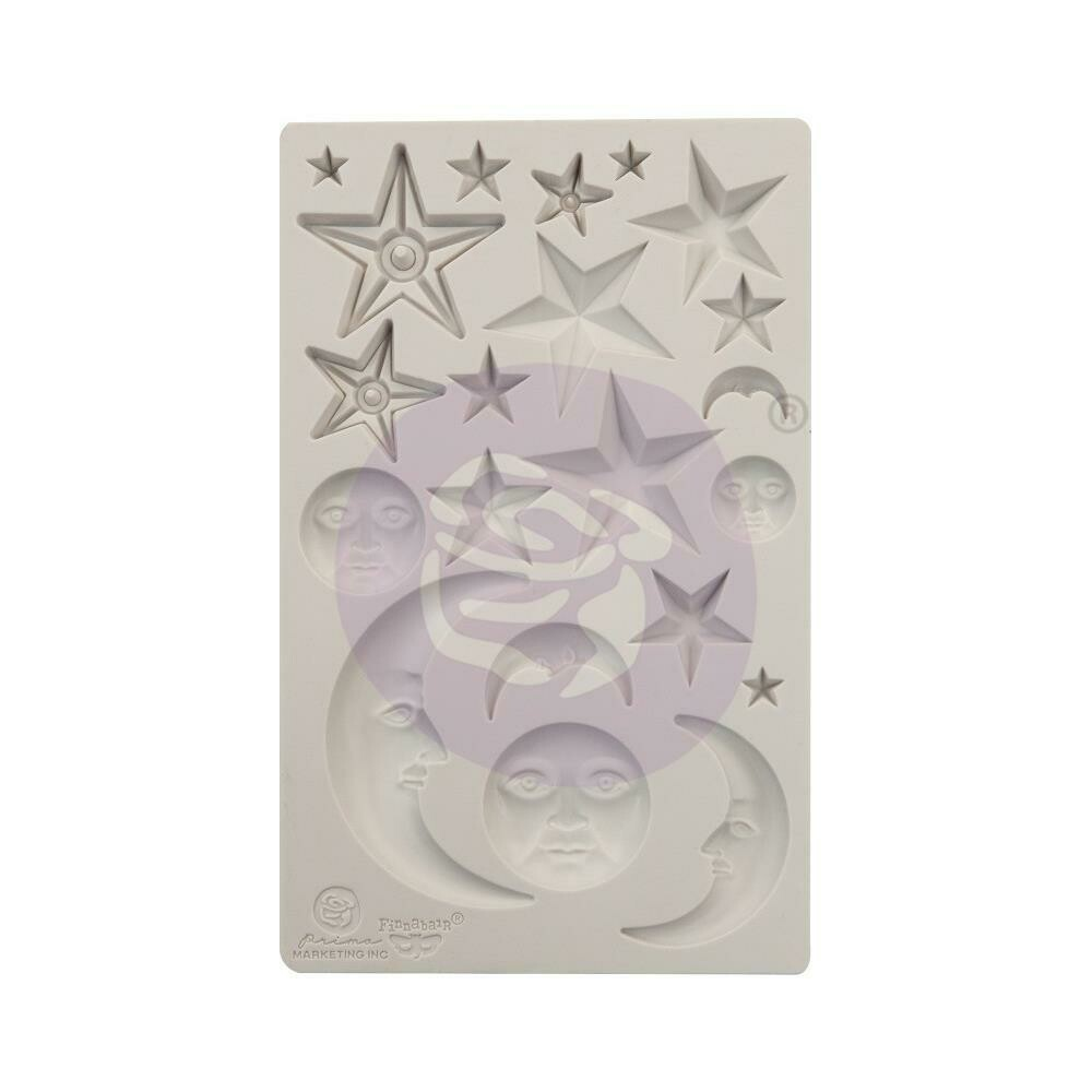 """Finnabair Decor Moulds - Stars and Moons -5""""X8"""""""