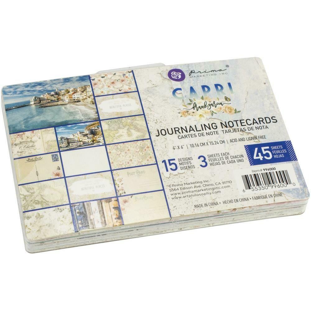 "Capri Journaling Cards 4""X6"" 45/Pkg"