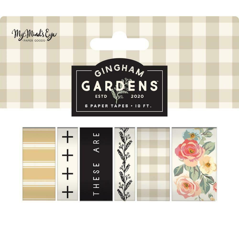 Gingham Gardens Washi 6/Pkg