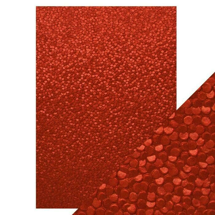 Craft Perfect - Hand Crafted Cotton Paper - Red Berries - A4 (5/PK)