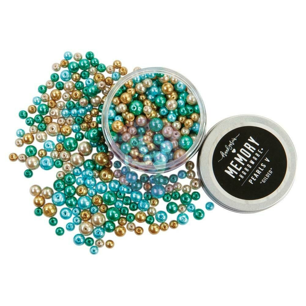 Prima Marketing Memory Hardware Glass Pearls - 5