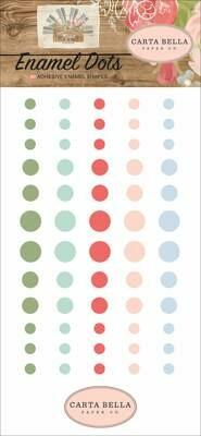 Carta Bella Adhesive Enamel Dots 60/Pkg Farmhouse Market