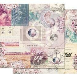 """Prima Marketing Moon Child Foiled Dbl-Sided Cardstock 12""""X12 Galactic Love"""