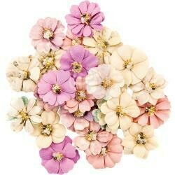 Prima Marketing Mulberry Paper Flowers Constellation/Moon Child, 24/Pkg