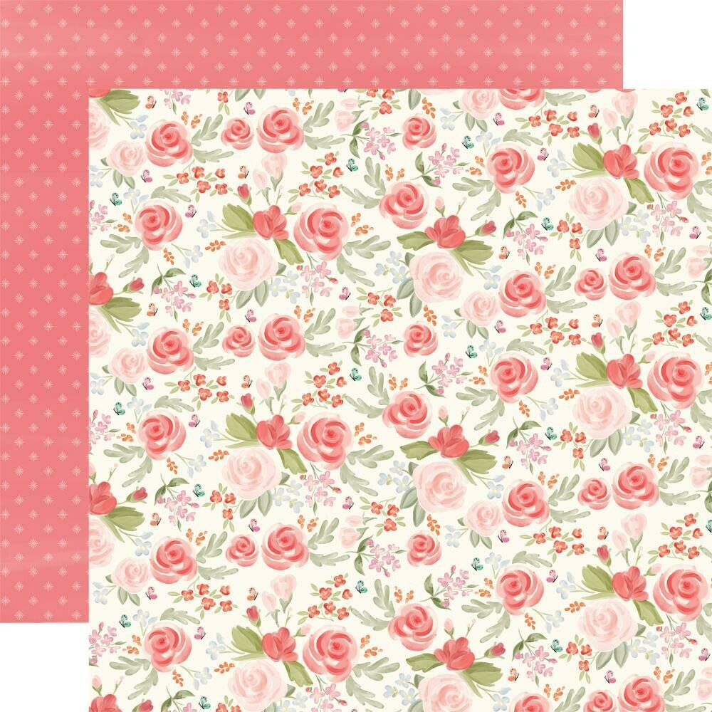 """Farmhouse Market Double-Sided Cardstock 12""""X12""""  Lovely Floral"""