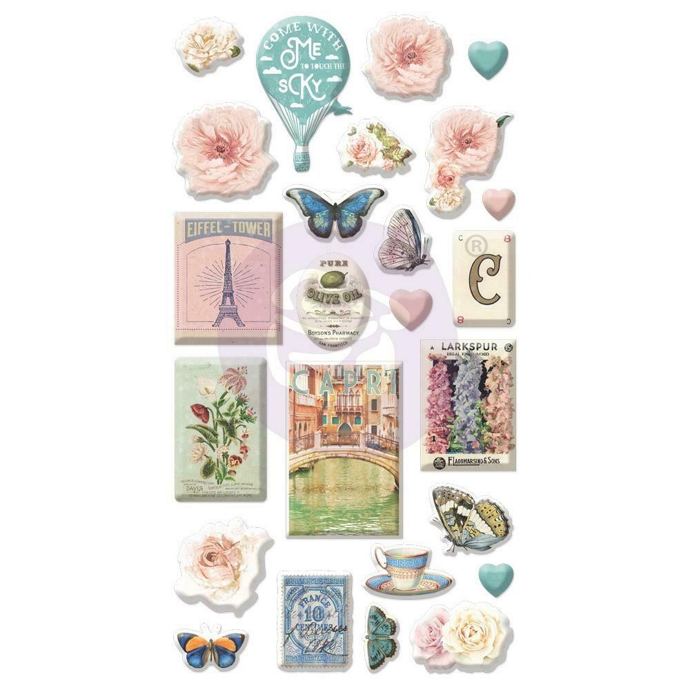 Capri Puffy Stickers 25/Pkg