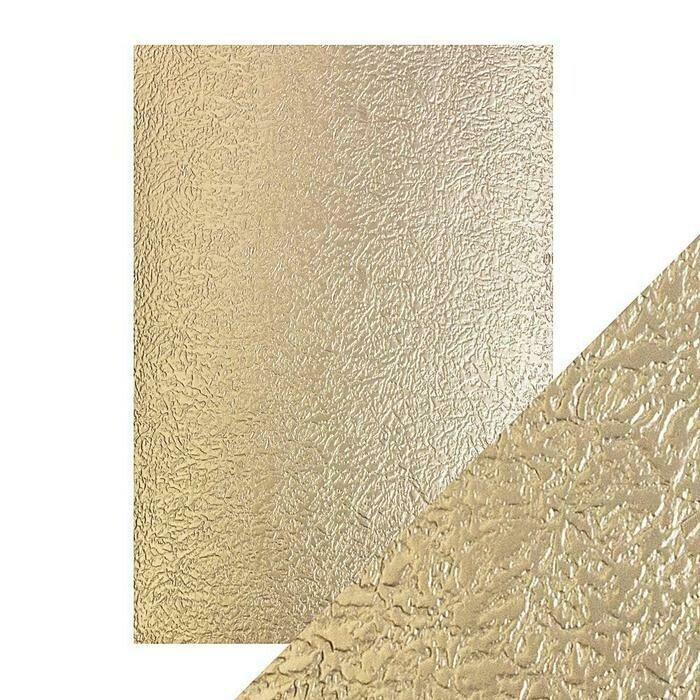 Craft Perfect - Luxury Embossed Card - Golden Glacier - A4 (5/PK)