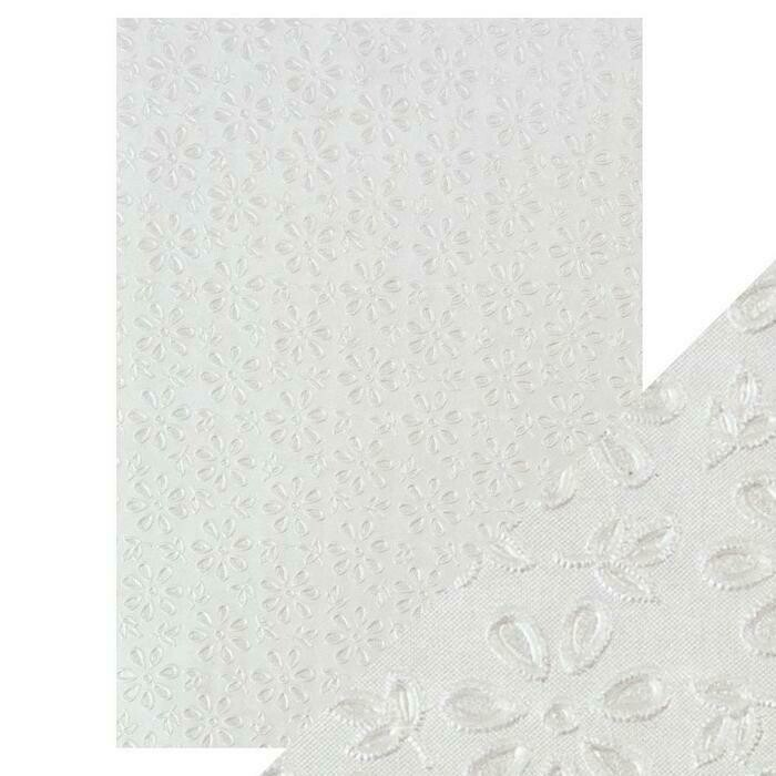 Craft Perfect - Hand Crafted Cotton Paper - English Lace - A4(5/PK)