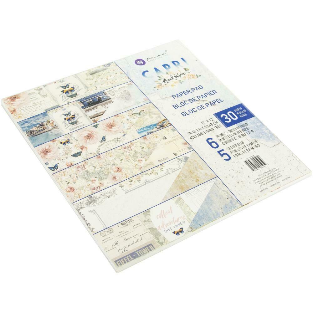 "Prima Marketing Capri Collection - Double-Sided Paper Pad 12""X12"" 30/Pkg"