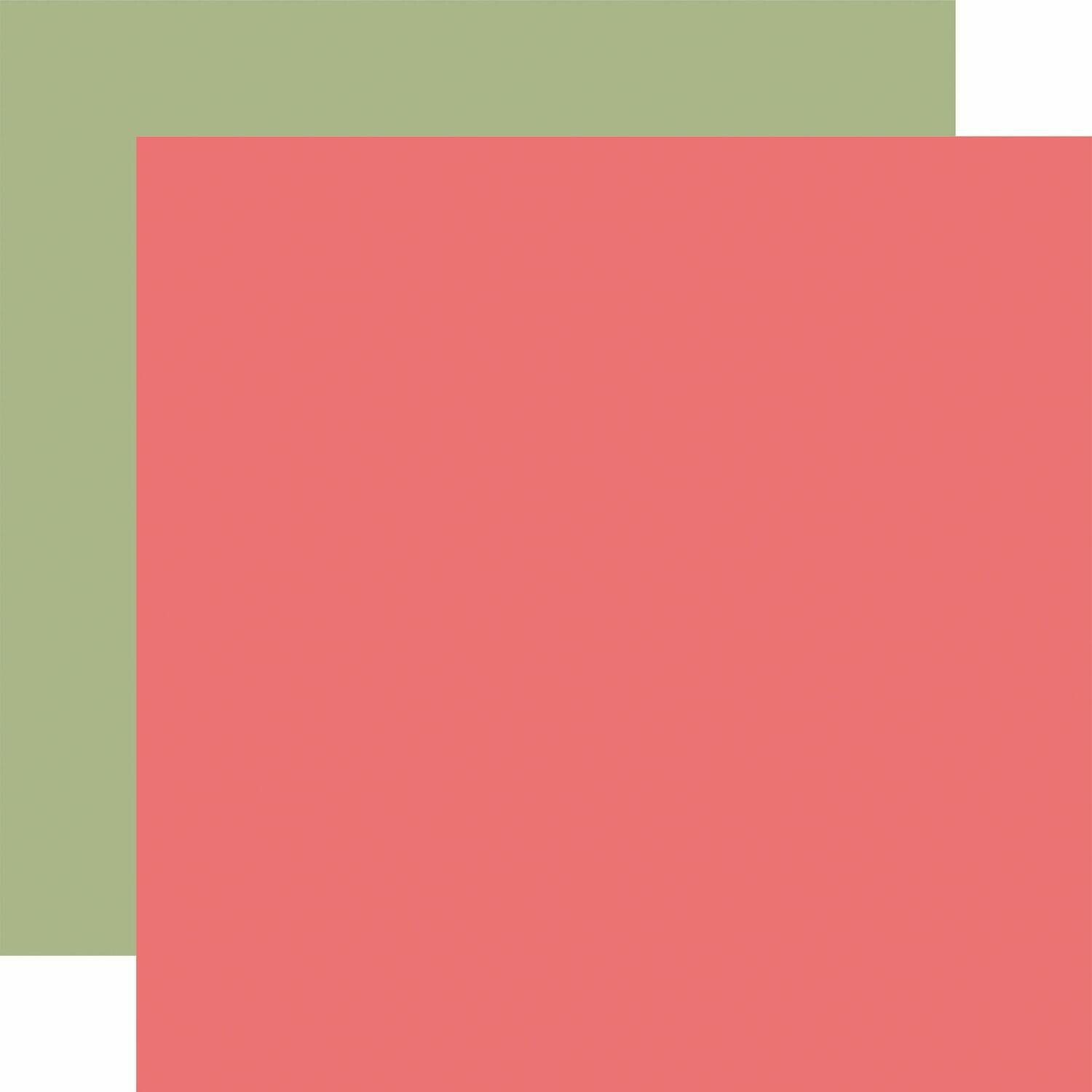 Farmhouse Market Pink / Green -Coordinating Solid
