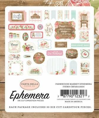Carta Bella Cardstock Ephemera 33/Pkg Icons, Farmhouse Market