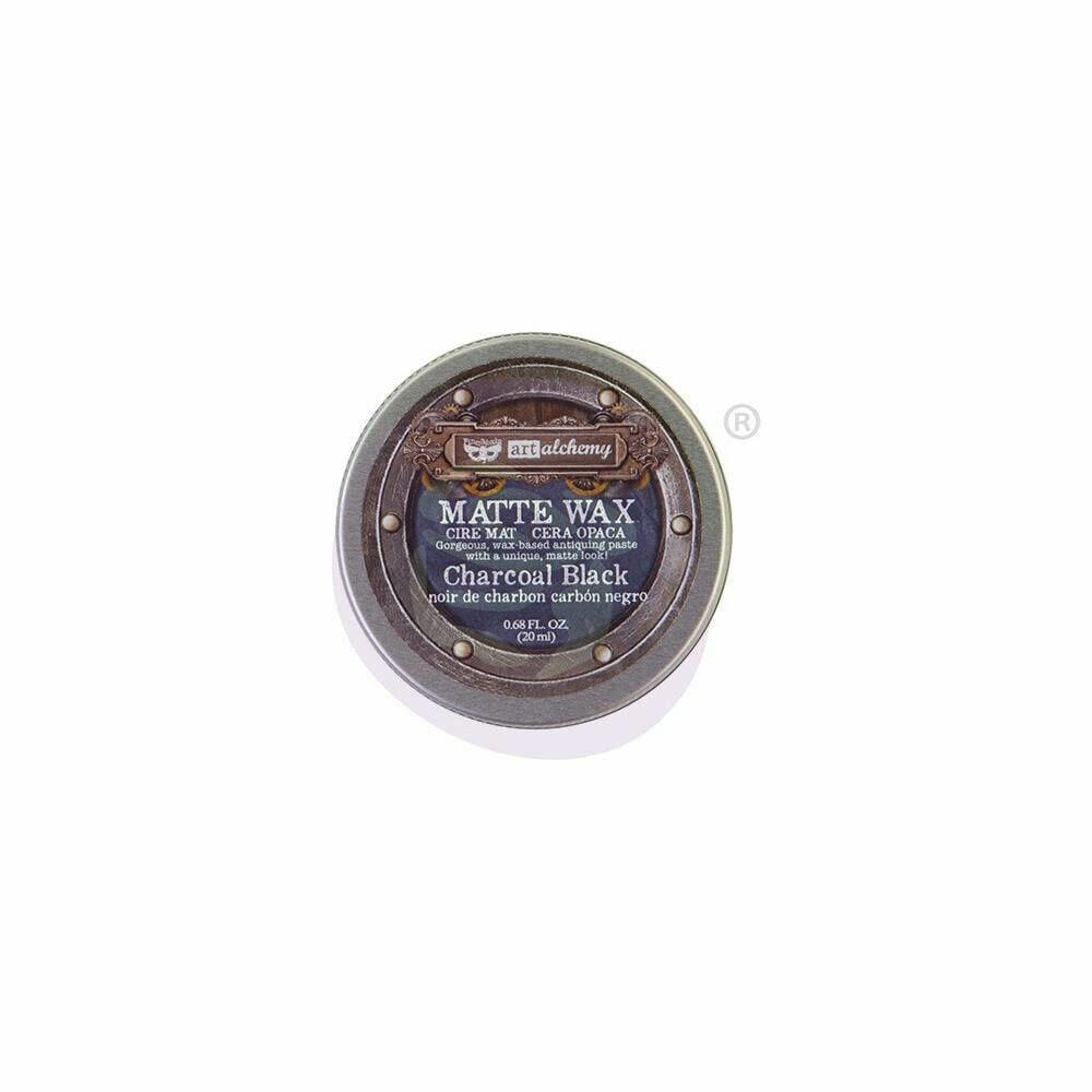 Finnabair Art Alchemy Matte Wax - Charcoal Black -  .68 Fluid Ounce