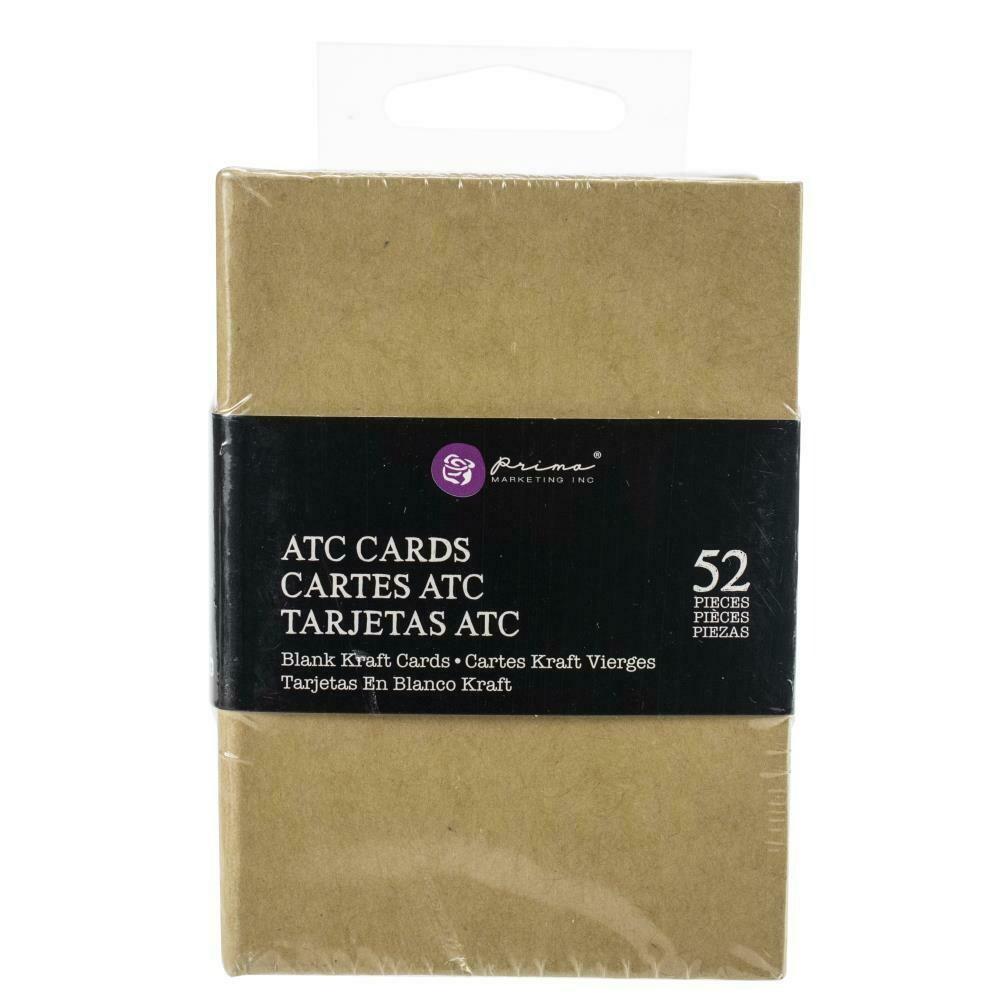 "Prima Marketing Altered ATC Card Set - Kraft -  2.25""X3.5"""