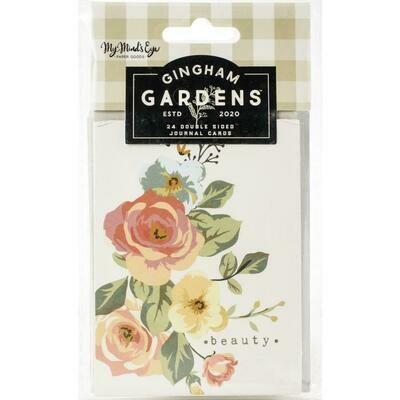 Gingham Gardens Double-Sided Journal Cards 24/Pkg
