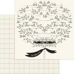 """My Mind's Eye My Heritage Double-Sided Cardstock 12""""X12"""" Family Tree"""