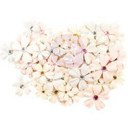 Prima Marketing Mulberry Paper Flowers Provincial Lavender/Lavender Frost, 60/P
