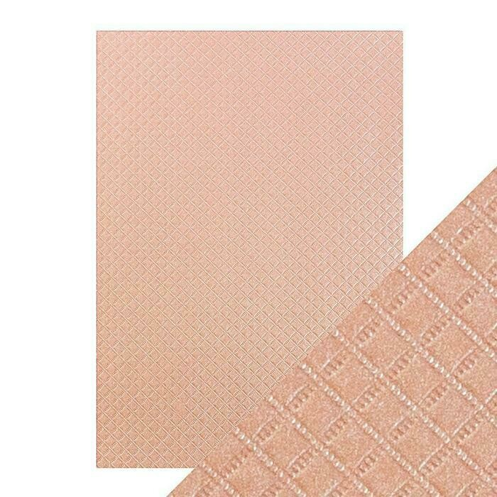Craft Perfect - Speciality Card - Luxury Embossed - Salmon Harlequin - A4 - 5 Pack