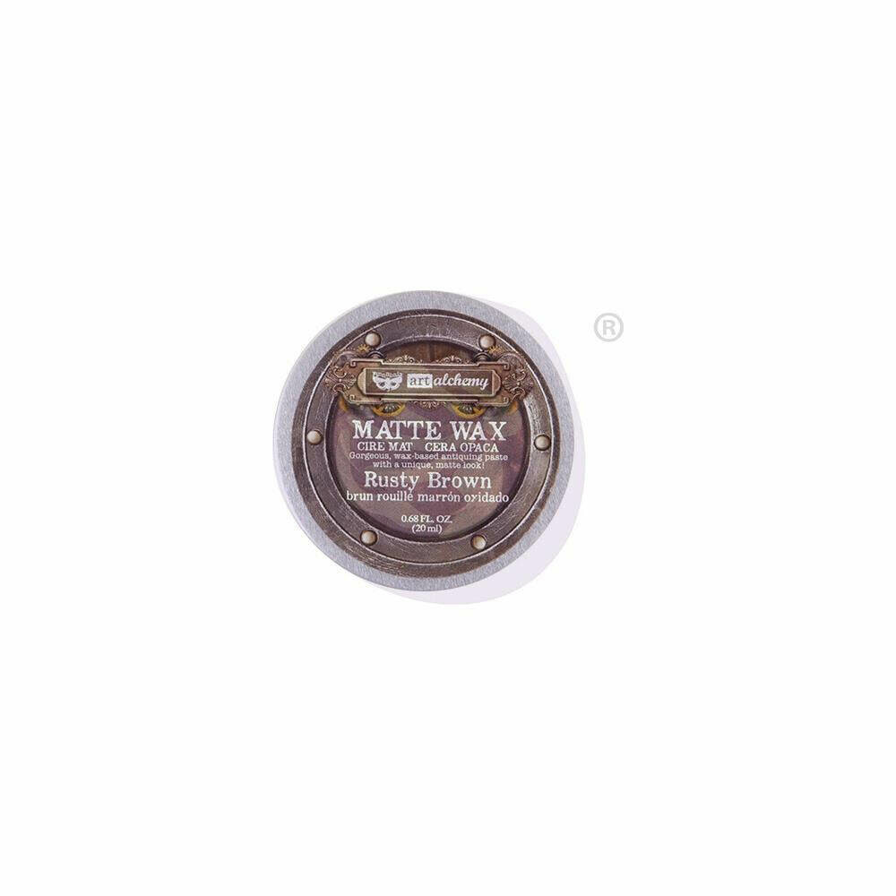 Finnabair Art Alchemy Matte Wax - Rusty Brown -  .68 Fluid Ounce