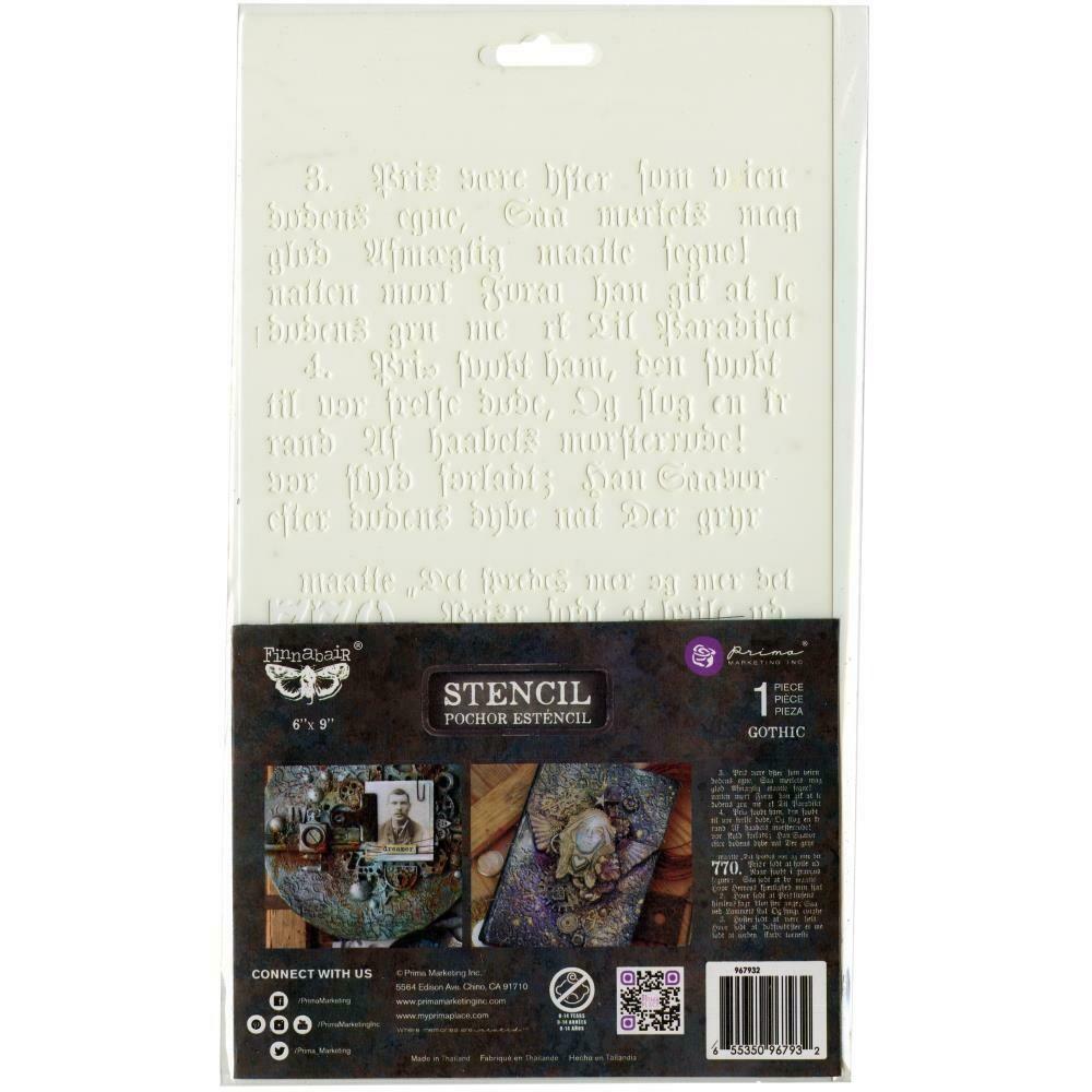 """Prima Marketing Stencil - Gothic - 6""""X9"""""""