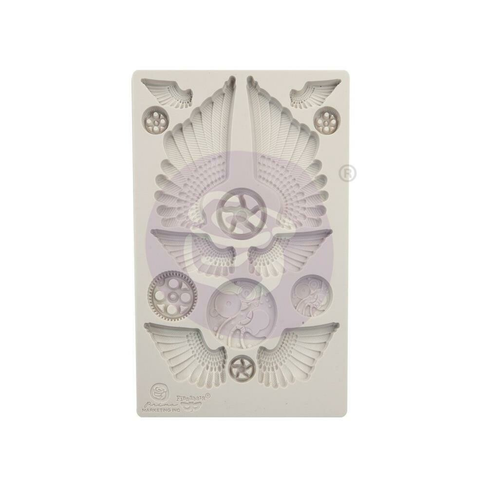 "Finnabair Decor Moulds - Cogs and Wings - 5""X8"""