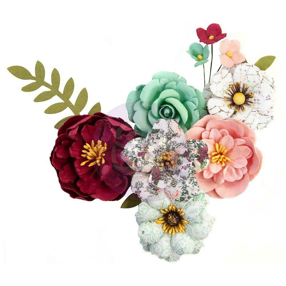 "PRIMA FLOWERS® PRETTY MOSAIC COLLECTION - EMERALD DREAM - 9PCS / 1-2.5"""