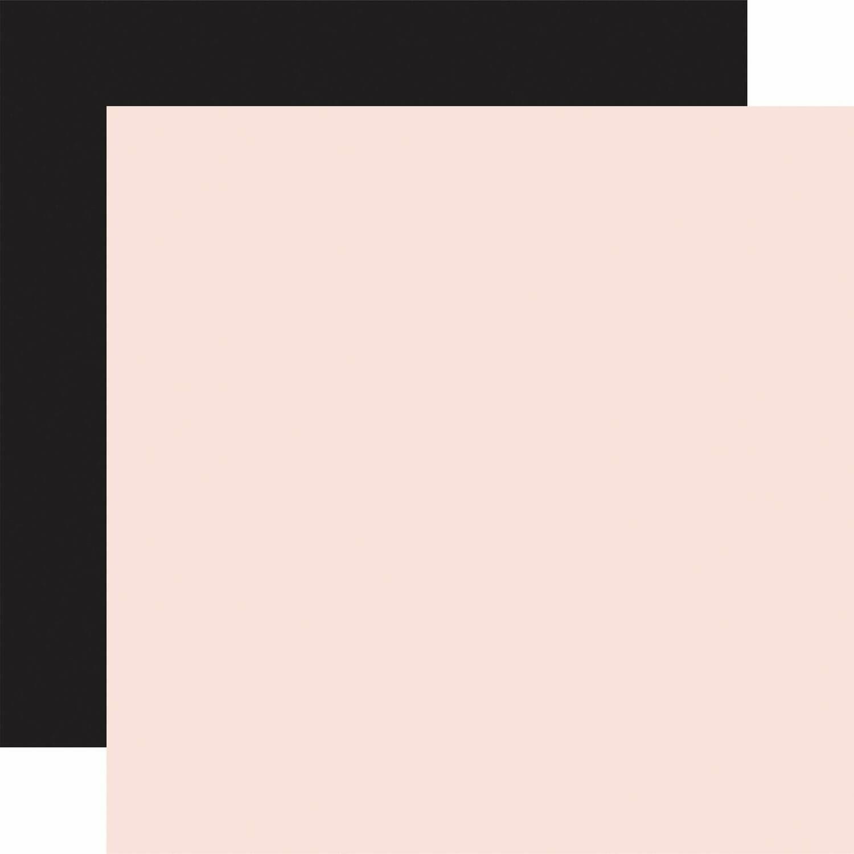 Farmhouse Market Lt. Pink / Black Coordinating solid