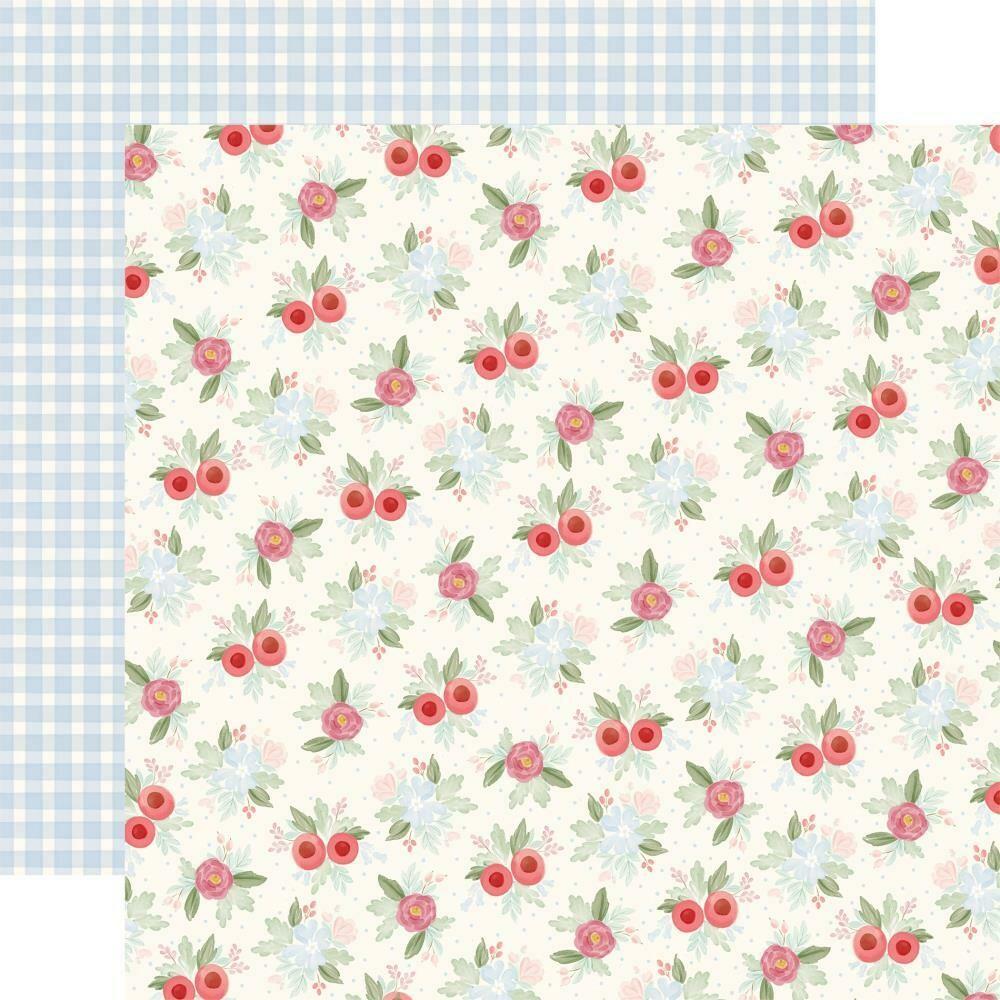 "Carta Bella Farmhouse Market Double-Sided Cardstock 12""X12""  Vintage Floral"