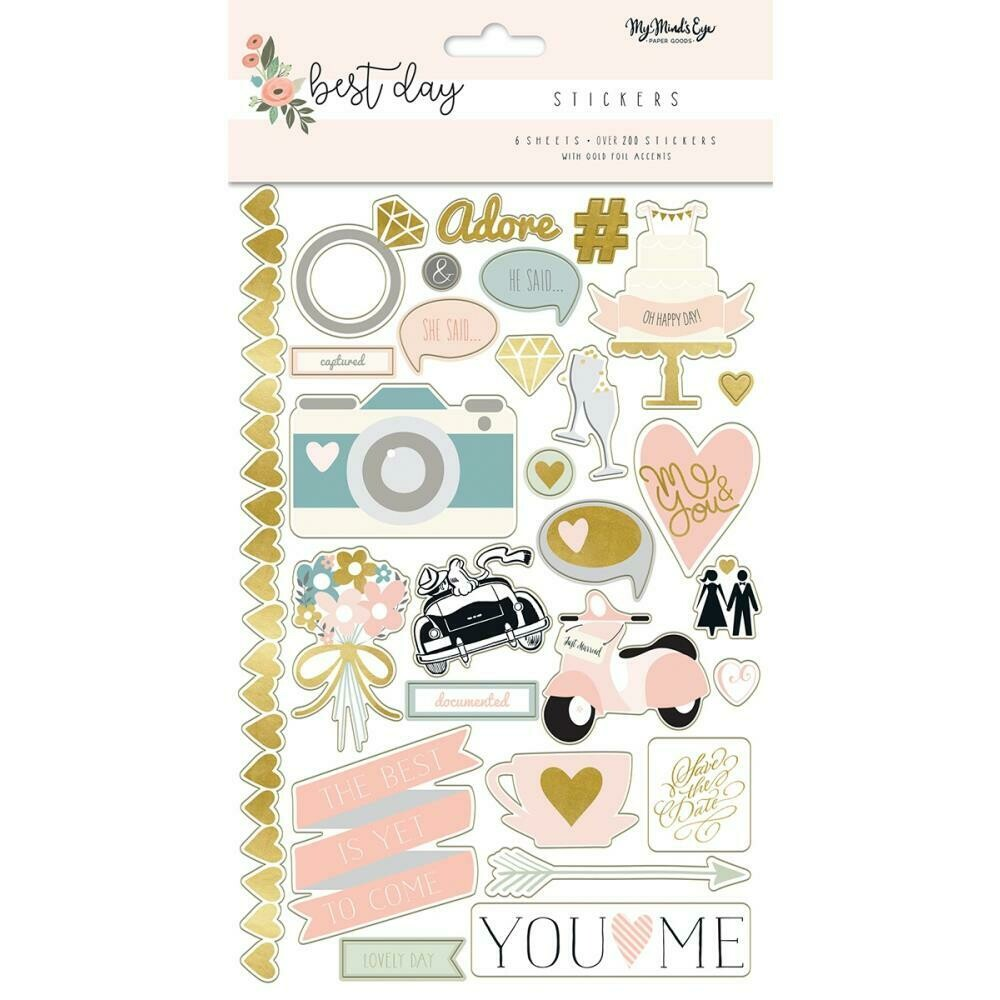 Best Day Stickers 6/Sheets