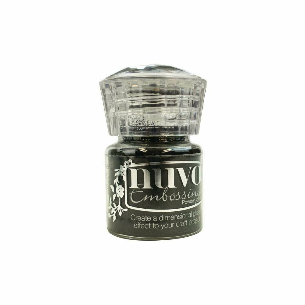 Nuvo Embossing Powder .74oz - Jet Black