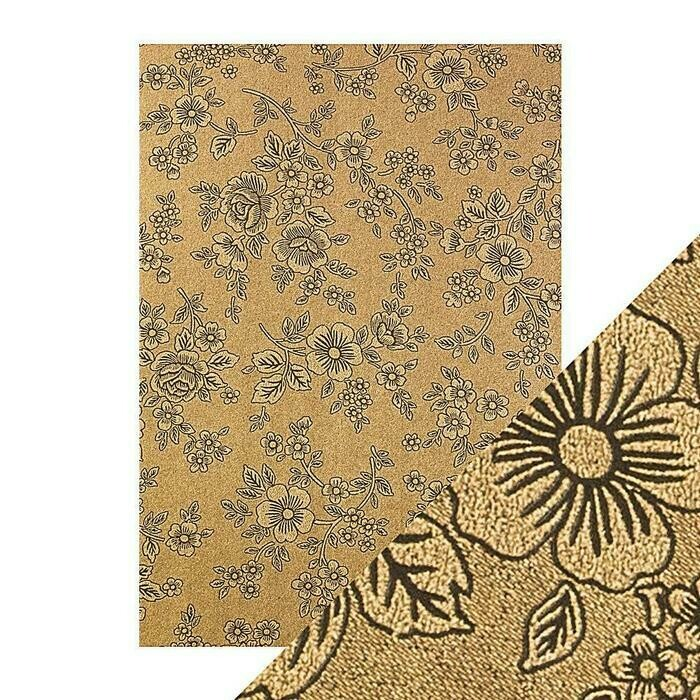 Craft Perfect - Luxury Embossed Card - Umber Etching - A4 (5/PK)