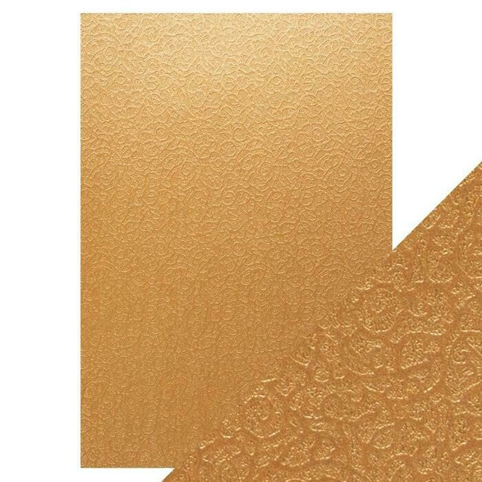 Craft Perfect - Speciality Card - Luxury Embossed - Bronze Labyrinth - A4 - 5 Pack - 9831E