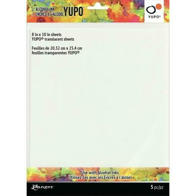 Tim Holtz Alcohol Ink Transucent Yupo Paper 104lb 5/Pkg