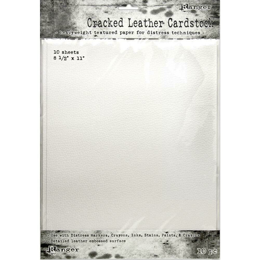 Tim Holtz Distress Cracked Leather Cardstock 10/Pkg 8.5x11 inch sheets