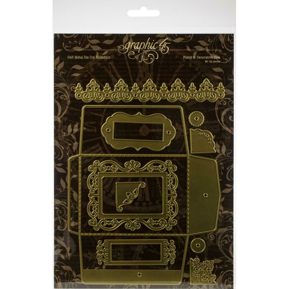 Graphic 45 Staples Dies Policy and Decorative Set