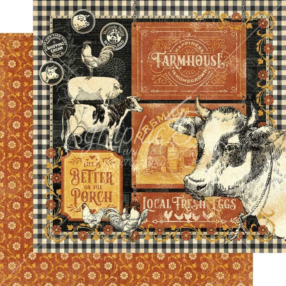 "Graphic 45 Farmhouse Double-Sided Cardstock 12""X12"" Farmhouse"