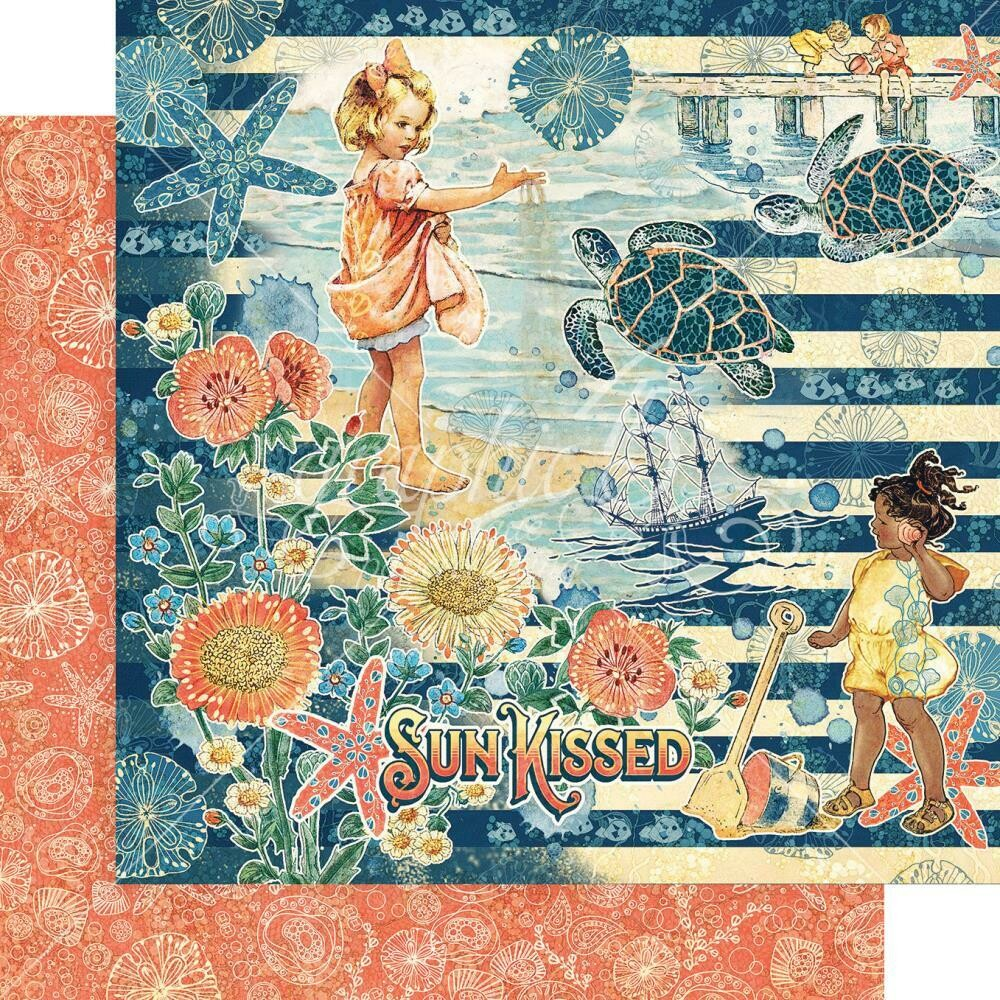 "Graphic 45 Sun Kissed Double-Sided Cardstock 12""X12"" Sun Kissed"