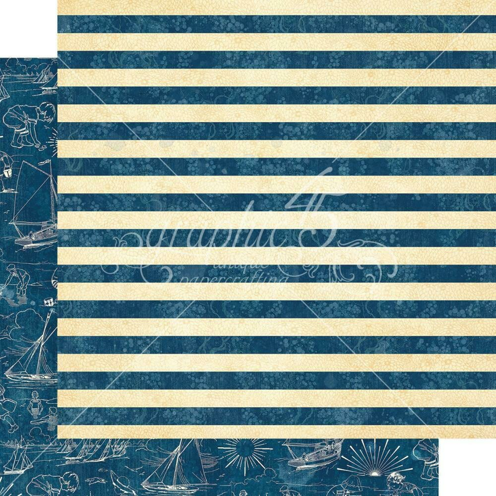 """Graphic 45 Sun Kissed Double-Sided Cardstock 12""""X12"""" Sail Away"""