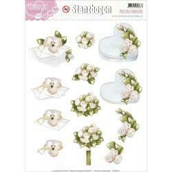 Find It Trading Precious Marieke Punchout Sheet Bouquet & Heart, Romance