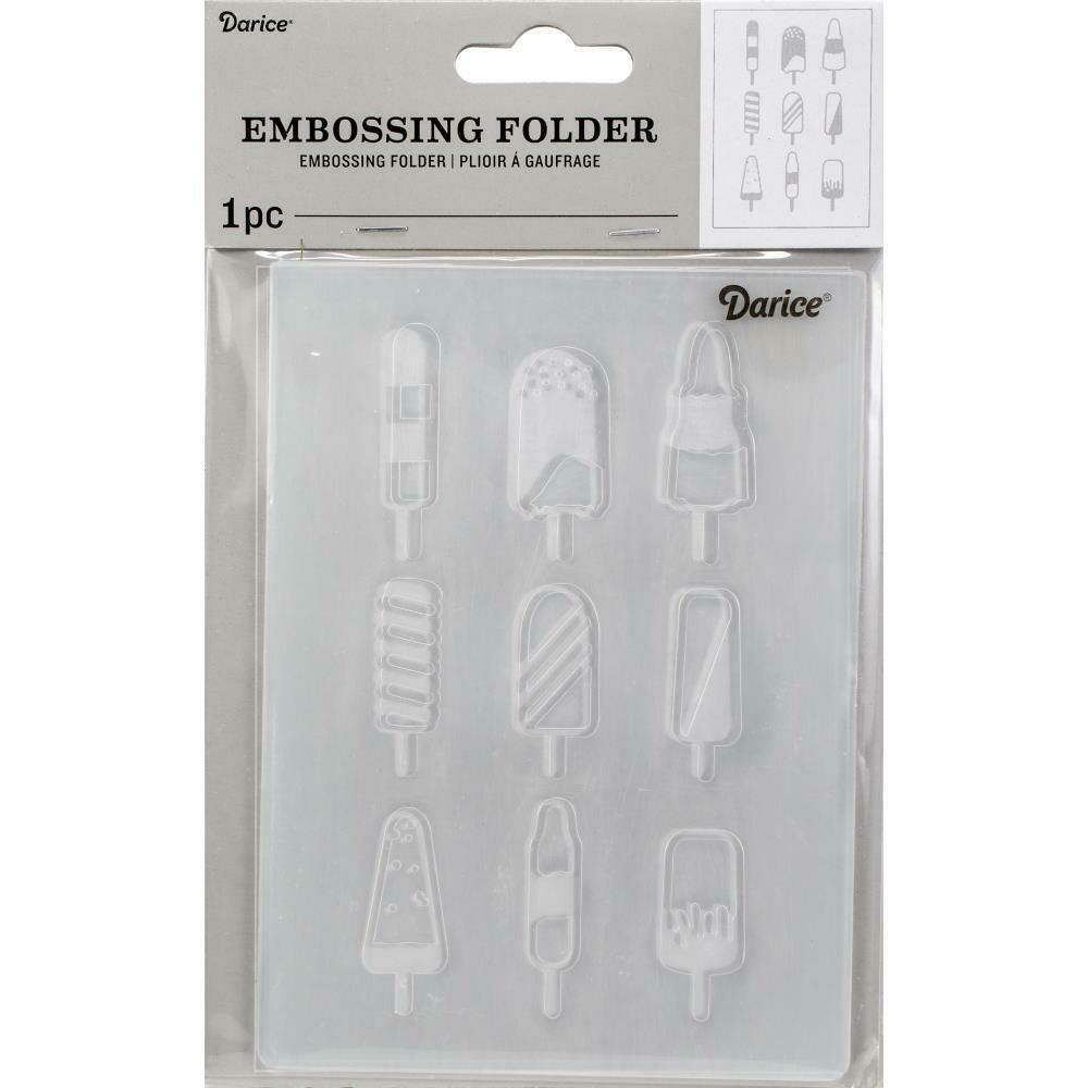 "Embossing Folder 4.25""X5.75"" by Darice Popsicles"